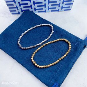 Tory Burch Golden Ball Elastic Bracelet
